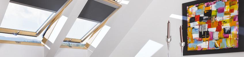 Fakro krovni prozori drvo srednje vešanje i unutrašnje zavese