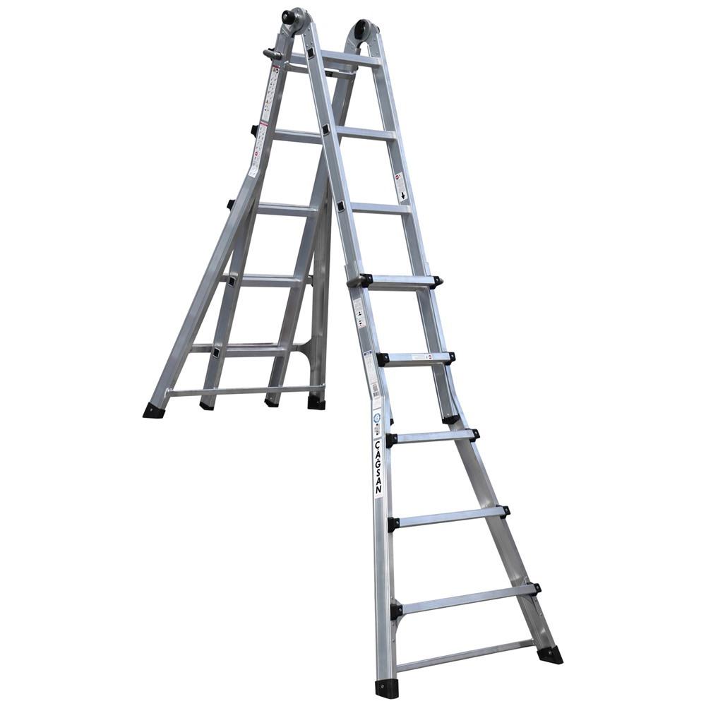 Višenamenske aluminijumske merdevine postavljanje u položaj za stepenice