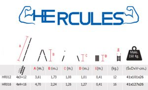 Alu Merdevine Karakteristike Herkules